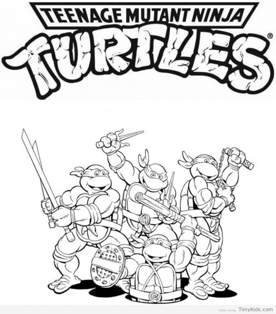 900x1024 Tmnt Printable Coloring Pages Timykids