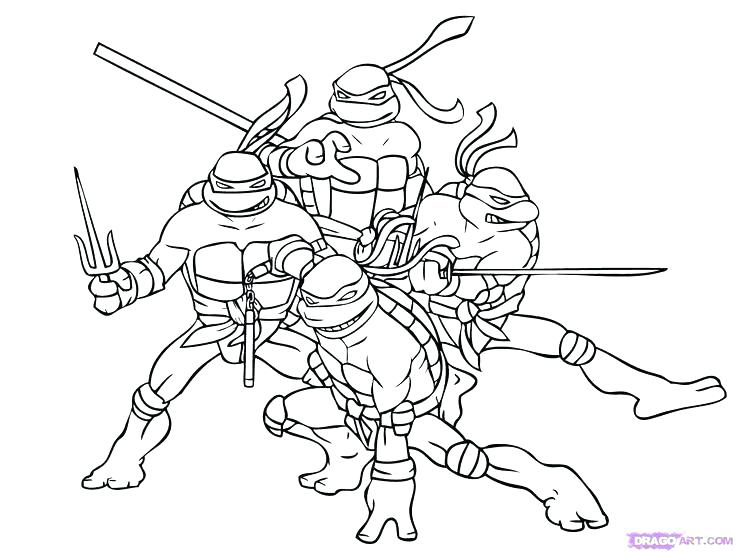 736x553 Free Printable Teenage Mutant Ninja Turtles Coloring Pages Teenage