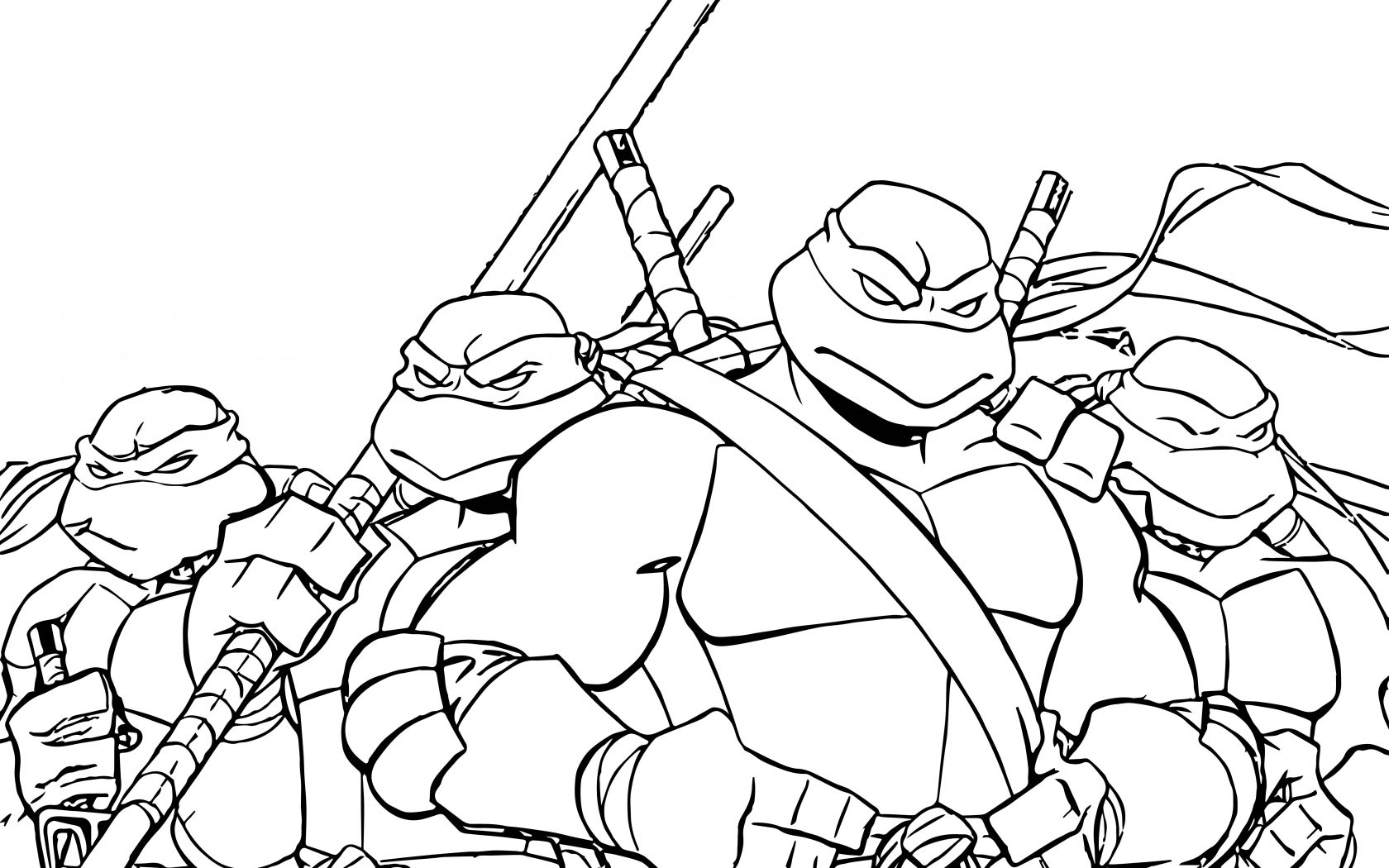 1680x1050 Images Of Teenage Mutant Ninja Turtles Printable Coloring Pages