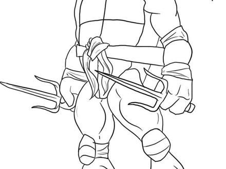 440x330 Ninja Turtles Free Printable Coloring Pages, Tmnt Raphael