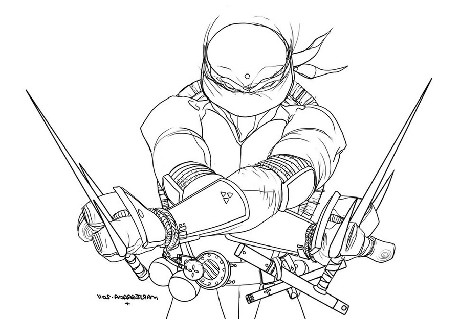 899x627 Teenage Mutant Ninja Turtles Coloring