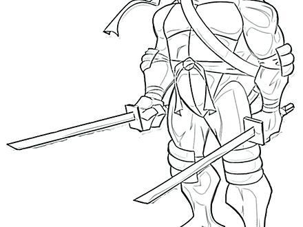 440x330 Teenage Mutant Ninja Turtles Raphael Coloring Pages Teenage Mutant