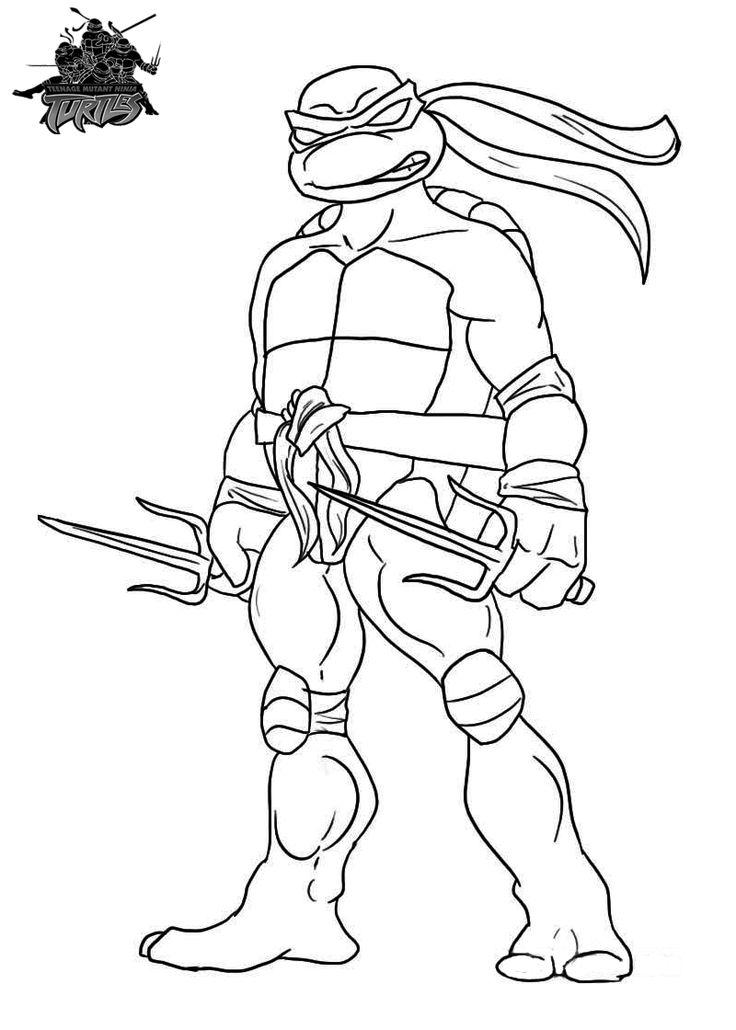 736x1030 Best Ninja Turtles Coloring Pages Images On Teenage