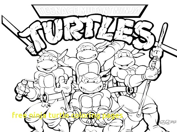 600x449 Free Ninja Turtle Coloring Pages With Teenage Mutant Ninja