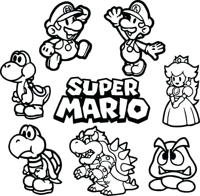 Toad Mario Coloring Pages At Getdrawings Free Download