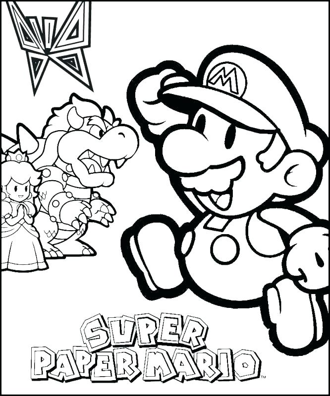 666x800 Paper Mario Coloring Pages Paper Coloring Pages Paper Coloring