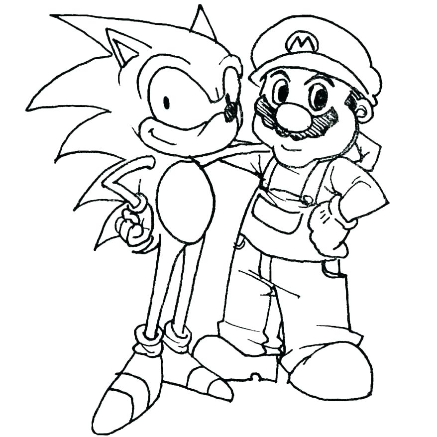 878x878 Mario Brothers Coloring Pages Super Bros Coloring Pages Mario