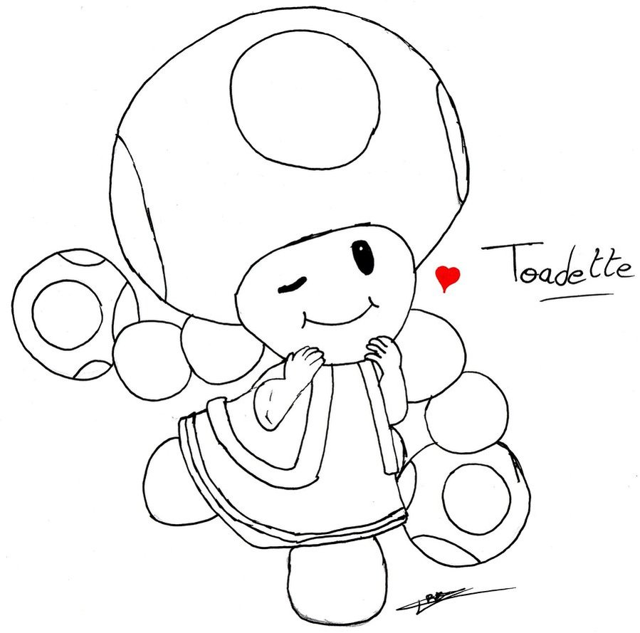 Toadette Coloring Page At Getdrawings Free Download