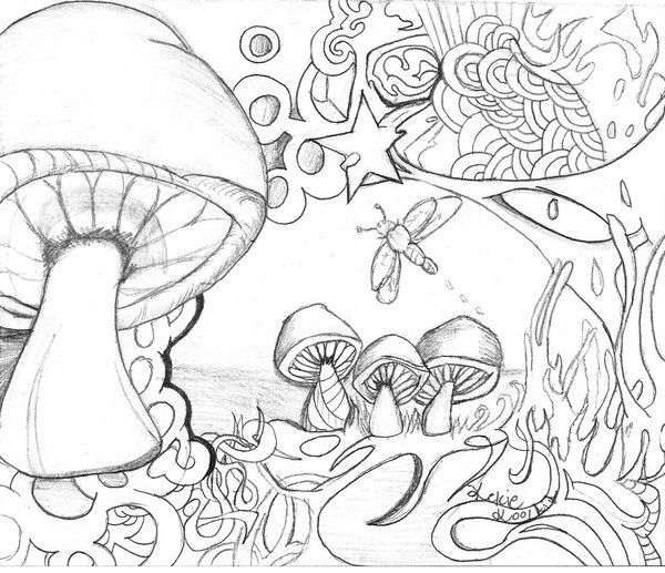 Toadstool Coloring Pages