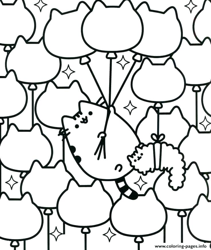 736x872 Pusheen Coloring Pages Pdf As Well As