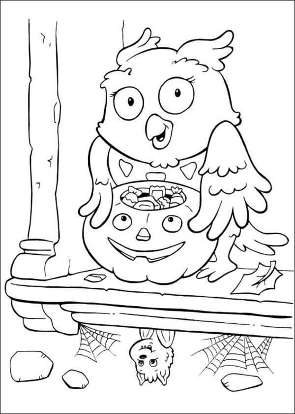 600x840 Best Halloween Color Page Images On Coloring Pages