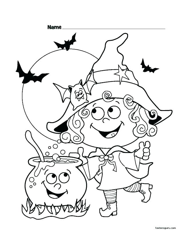 618x800 Toddler Halloween Coloring Pages Printable For Kindergarten Good