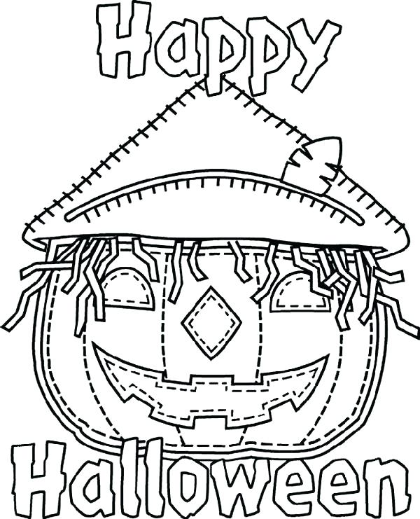 600x741 Toddler Halloween Coloring Pages Printable Scary Coloring Pages