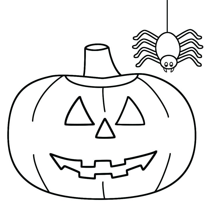 700x700 Halloween Coloring Pages For Kindergarten Toddler Halloween