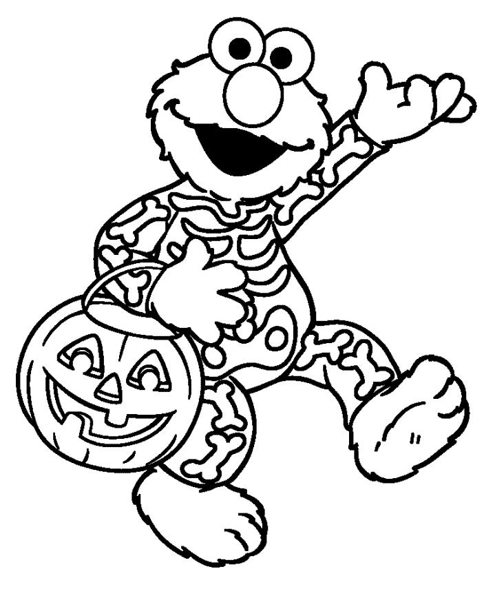 703x868 Sesame Street Halloween Coloring Pages Sesame Street Elmo