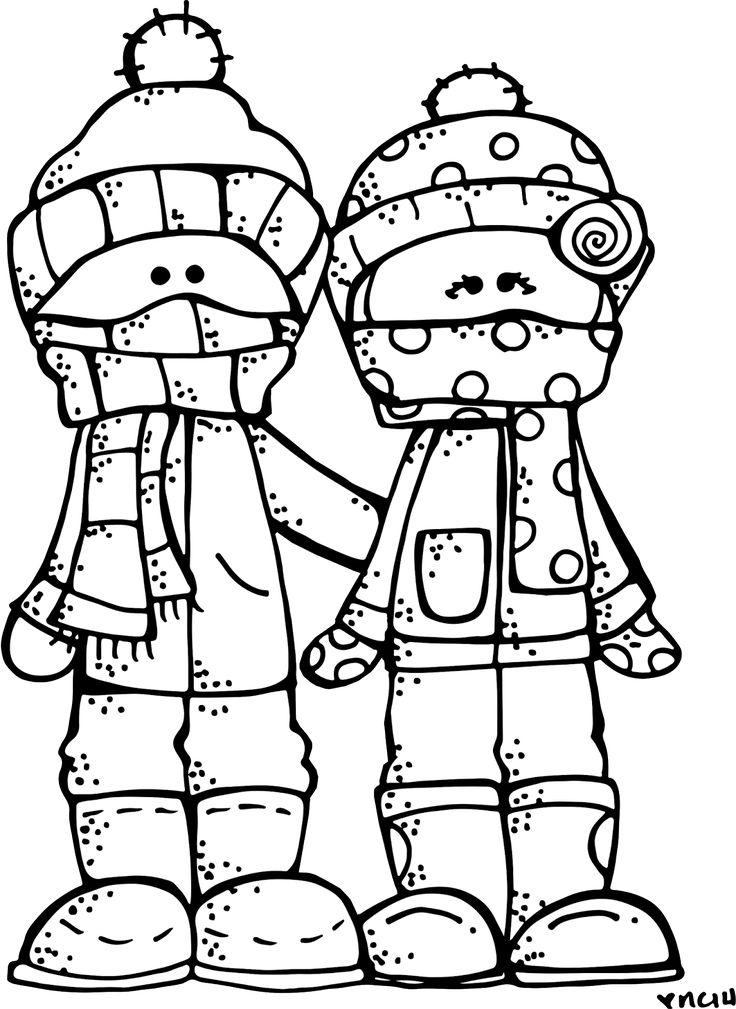 Toddler Winter Coloring Pages