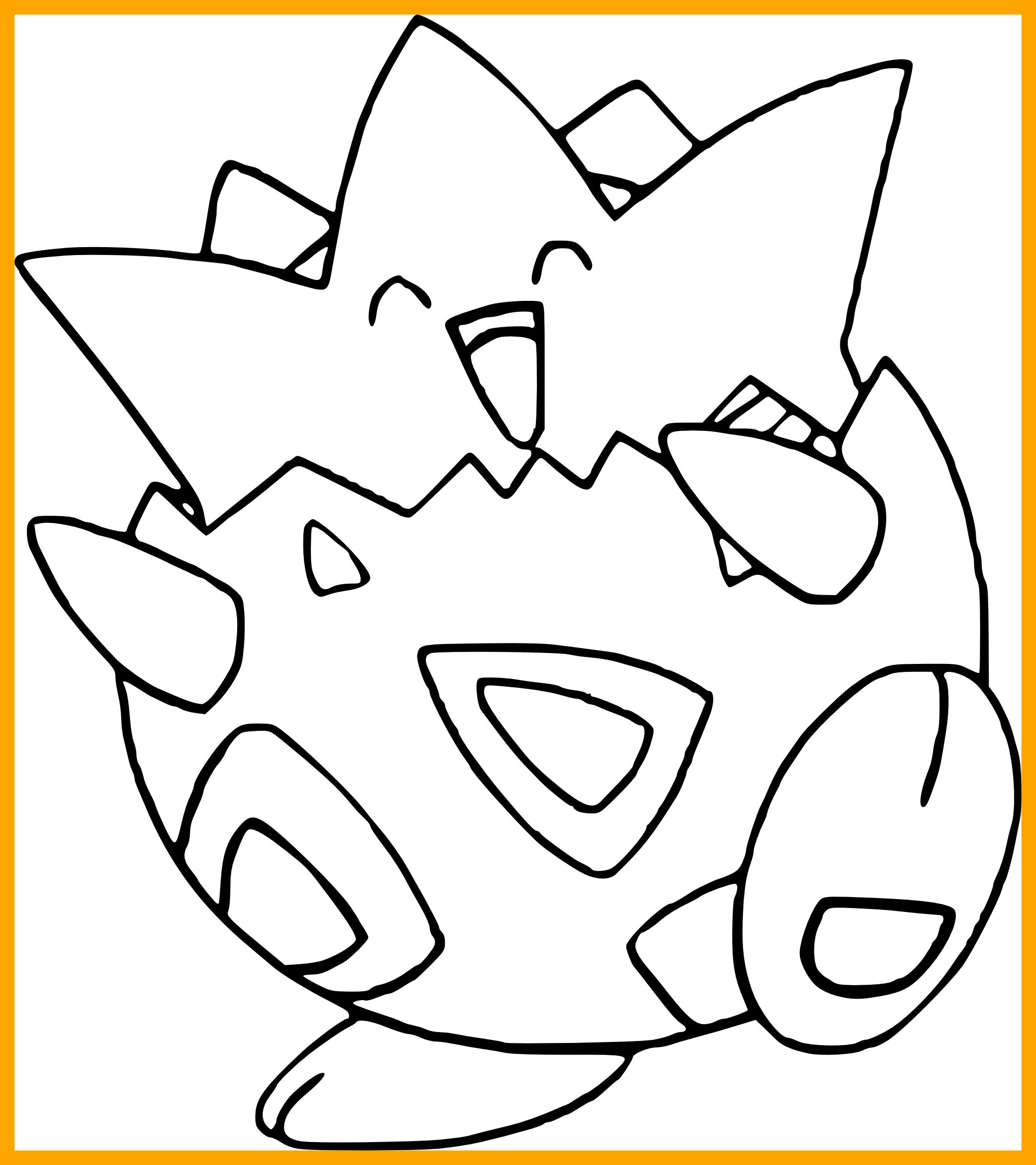 2080x2339 Inspiring Pokemon Coloring Pages For Togepi Styles And Popular