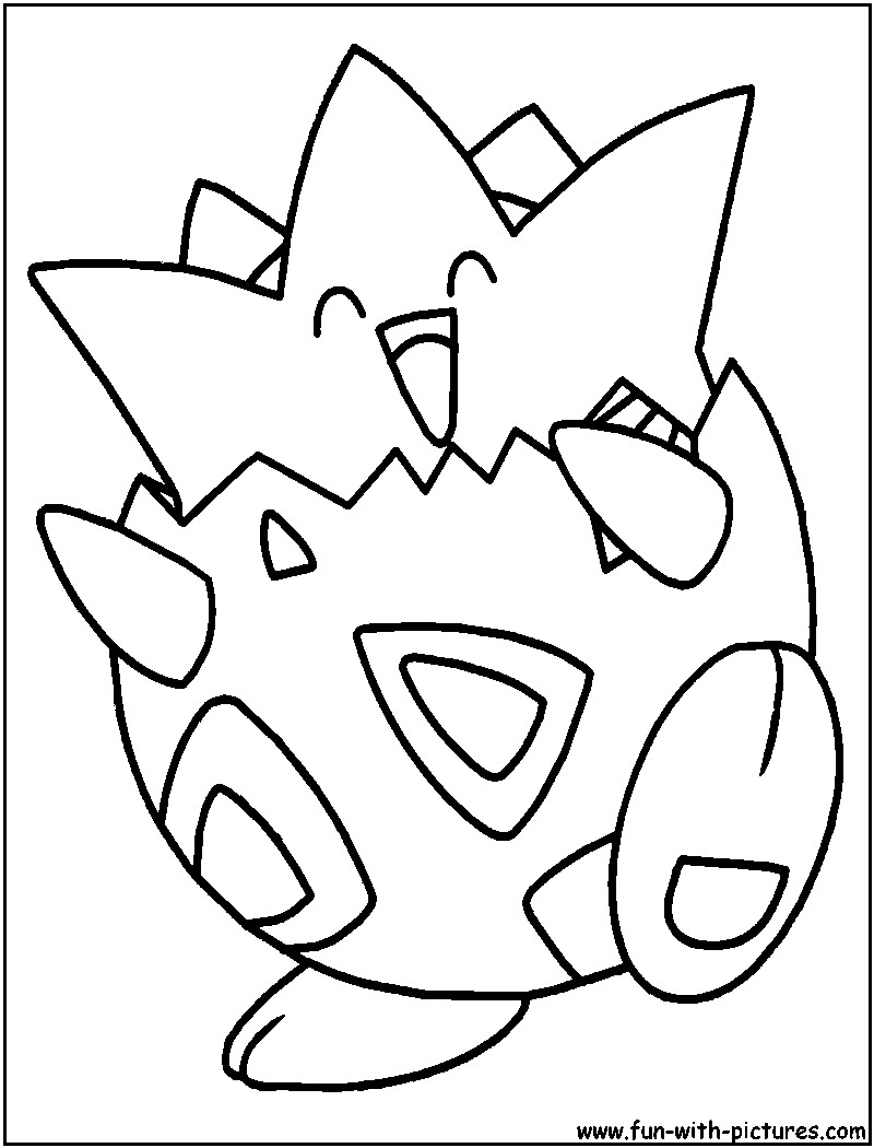 800x1050 Togepi Coloring Pages