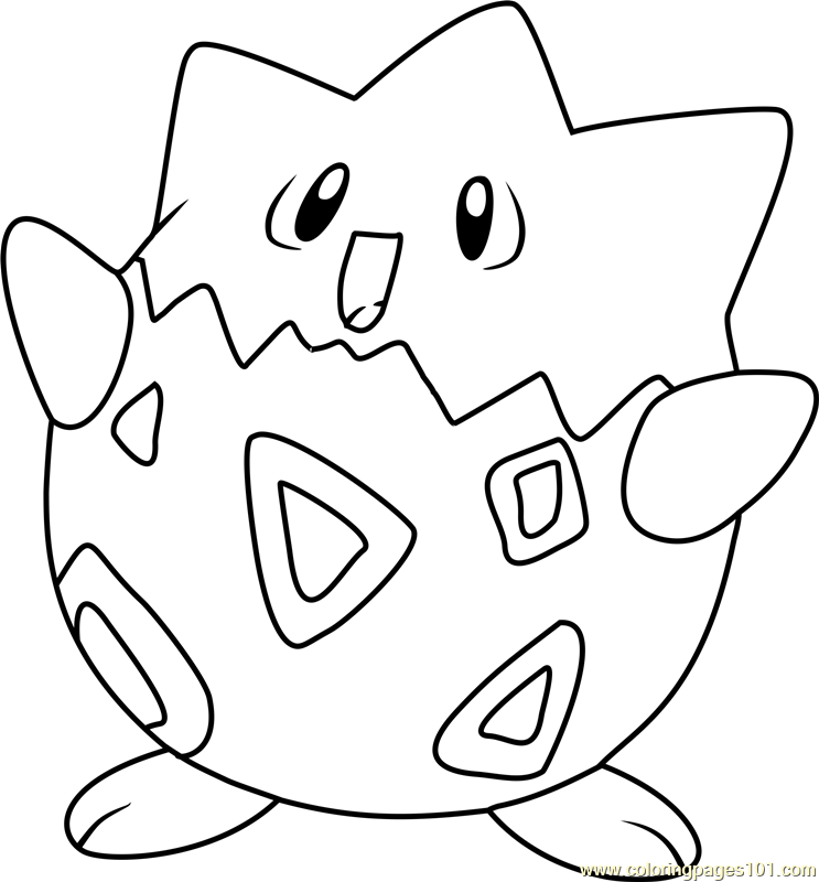 743x800 Togepi Pokemon Coloring Page