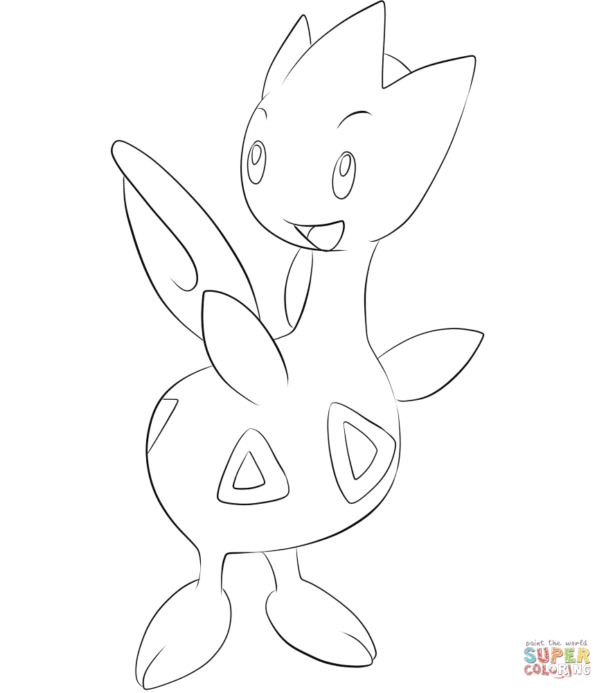 875x1000 Togetic Coloring Pages Gallery Coloring For Kids