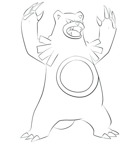 460x480 Togepi Coloring Pages