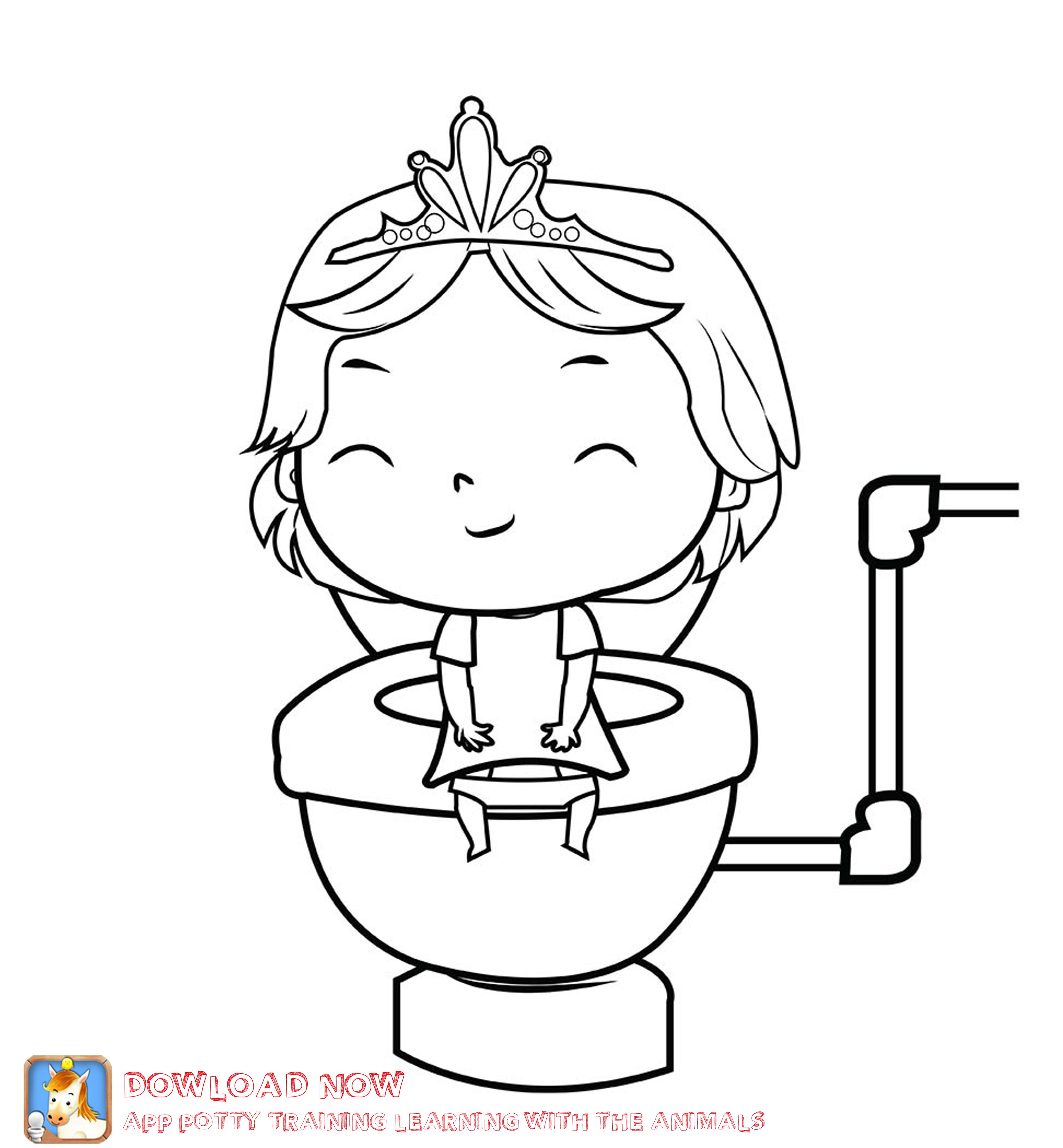 3465x3743 Potty Training Coloring Page Girl Part Of A Fun Potty Training
