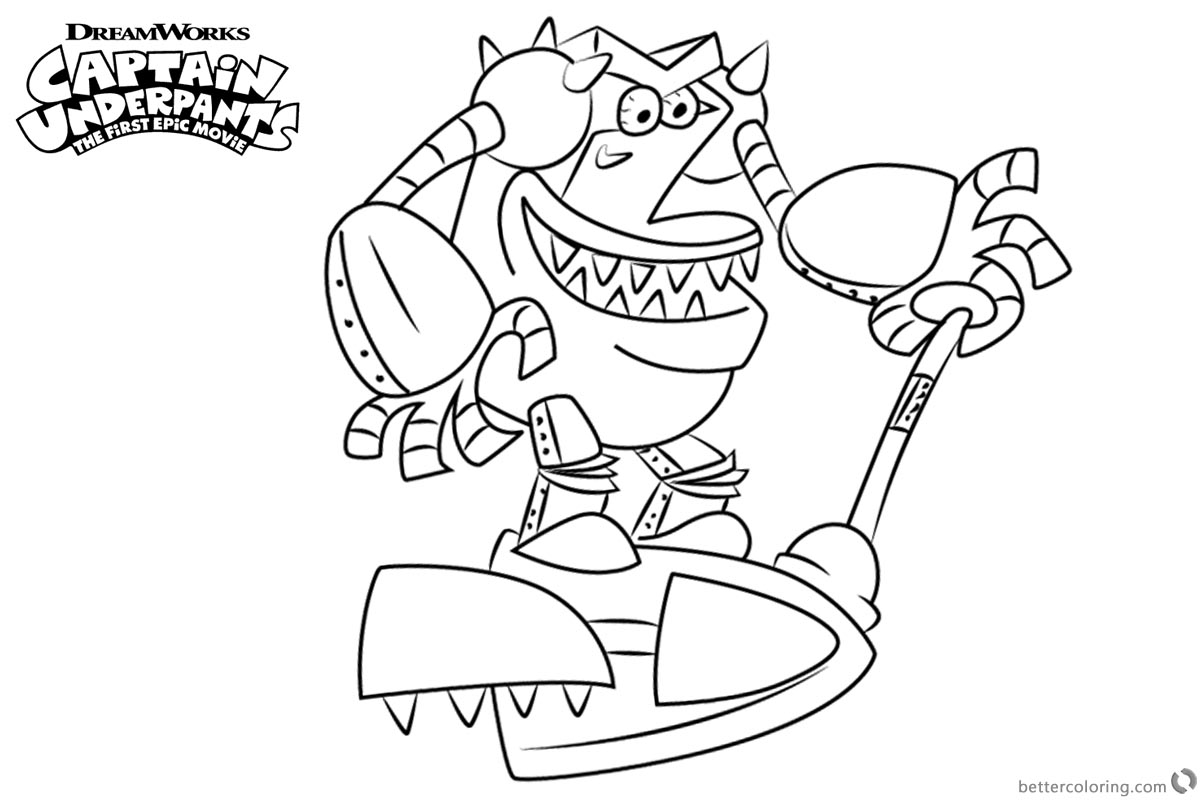 1200x800 Turbo Toilet From Captain Underpants Coloring Pages