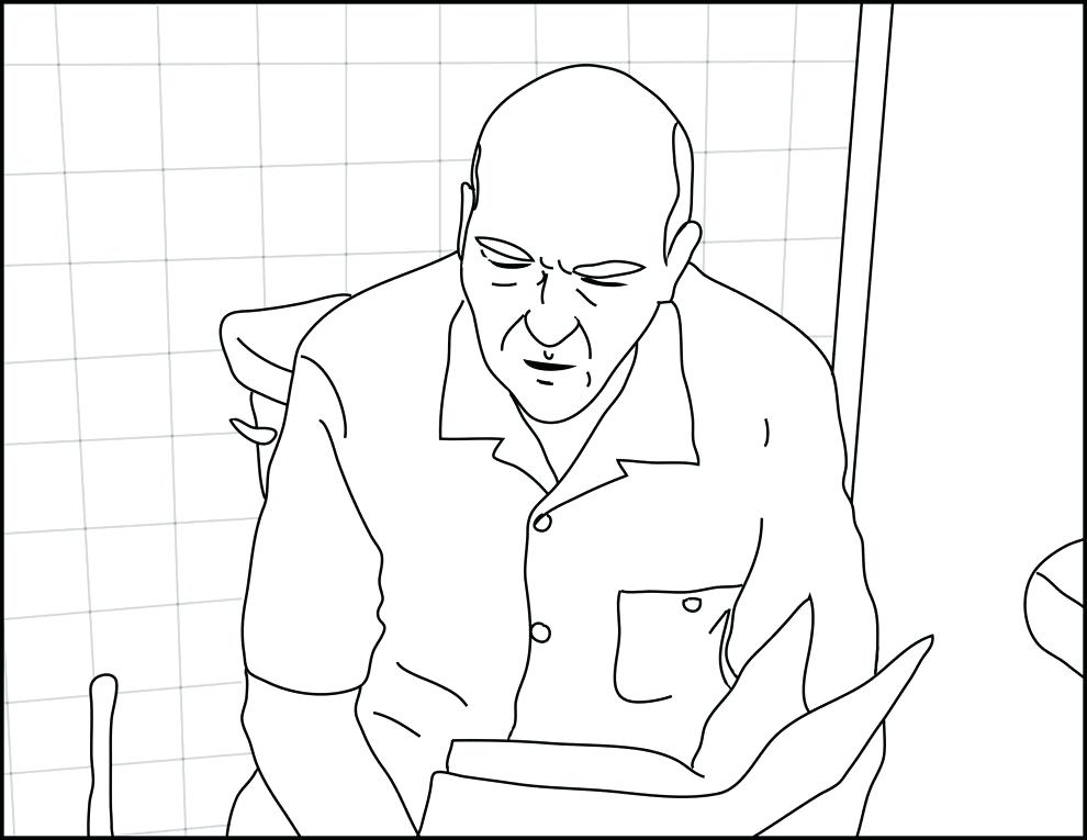 990x765 Bad Coloring Pages Hank On A Toilet The Breaking Bad Coloring Book