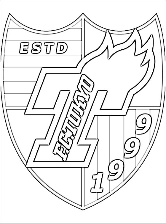560x750 Logo Of Tokyo Football Club Coloring Pages