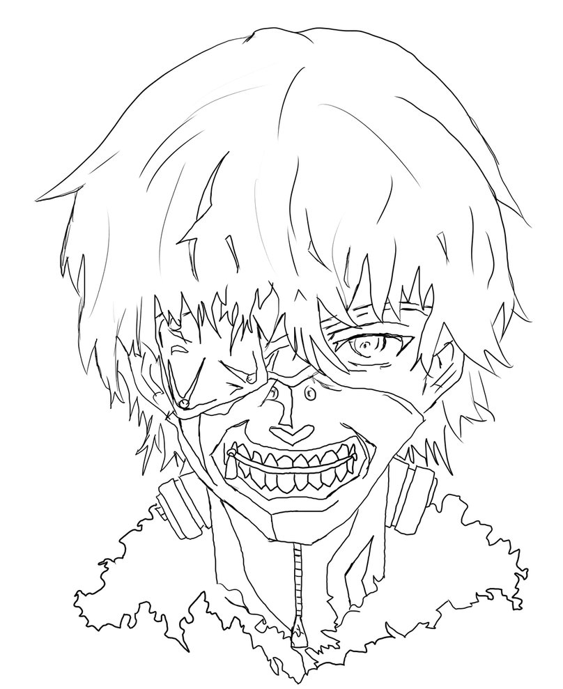 808x989 Suddenly Tokyo Ghoul Coloring Pages Pictures Free Coloring