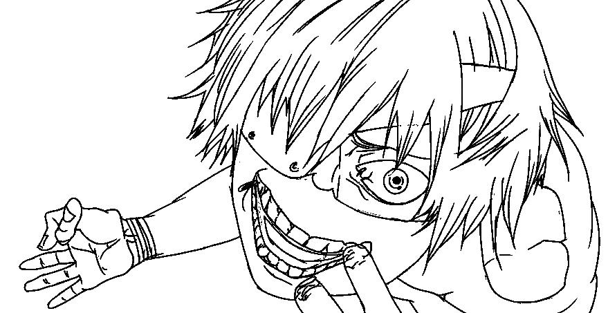 879x453 Tokyo Ghoul Coloring Pages Ken Kaneki Drawing At Getdrawings Free