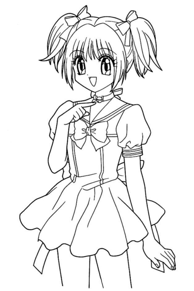 628x943 Tokyo Mew Mew Coloring Pages