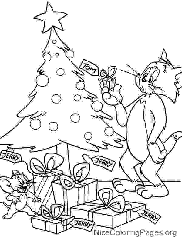 600x783 Tom And Jerry Christmas Coloring Pages Tom And Jerry Christmas