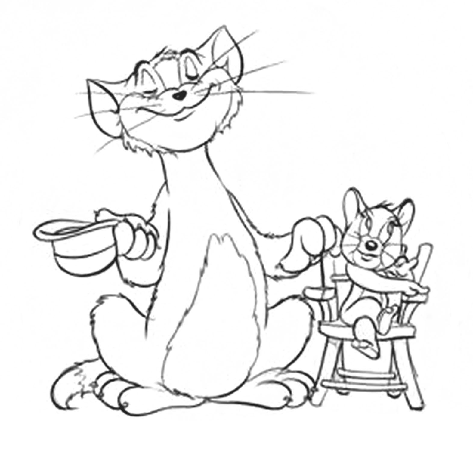 Tom And Jerry Printable Coloring Pages