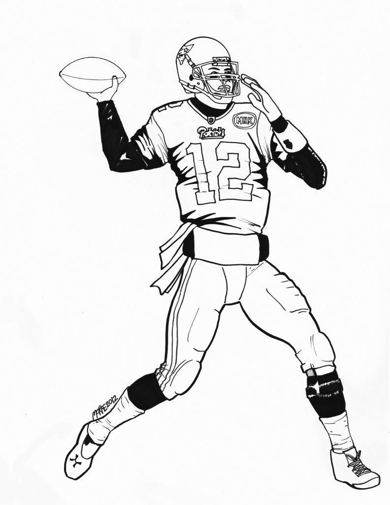 792x1024 Stunning Tom Brady Coloring Page Many Picture For Concept