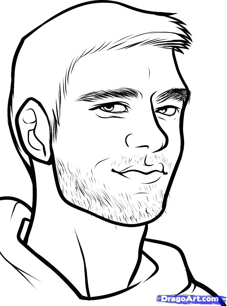 759x1024 Tom Brady Coloring Pages How To Draw A Football Player Tom Brady
