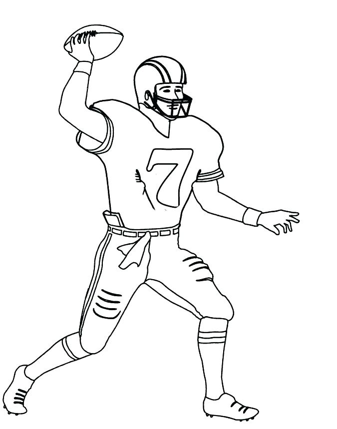 675x859 Coloring Pages Tom Brady Drawn Football Pencil And In Color