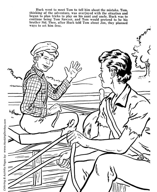 Tom Sawyer Coloring Pages