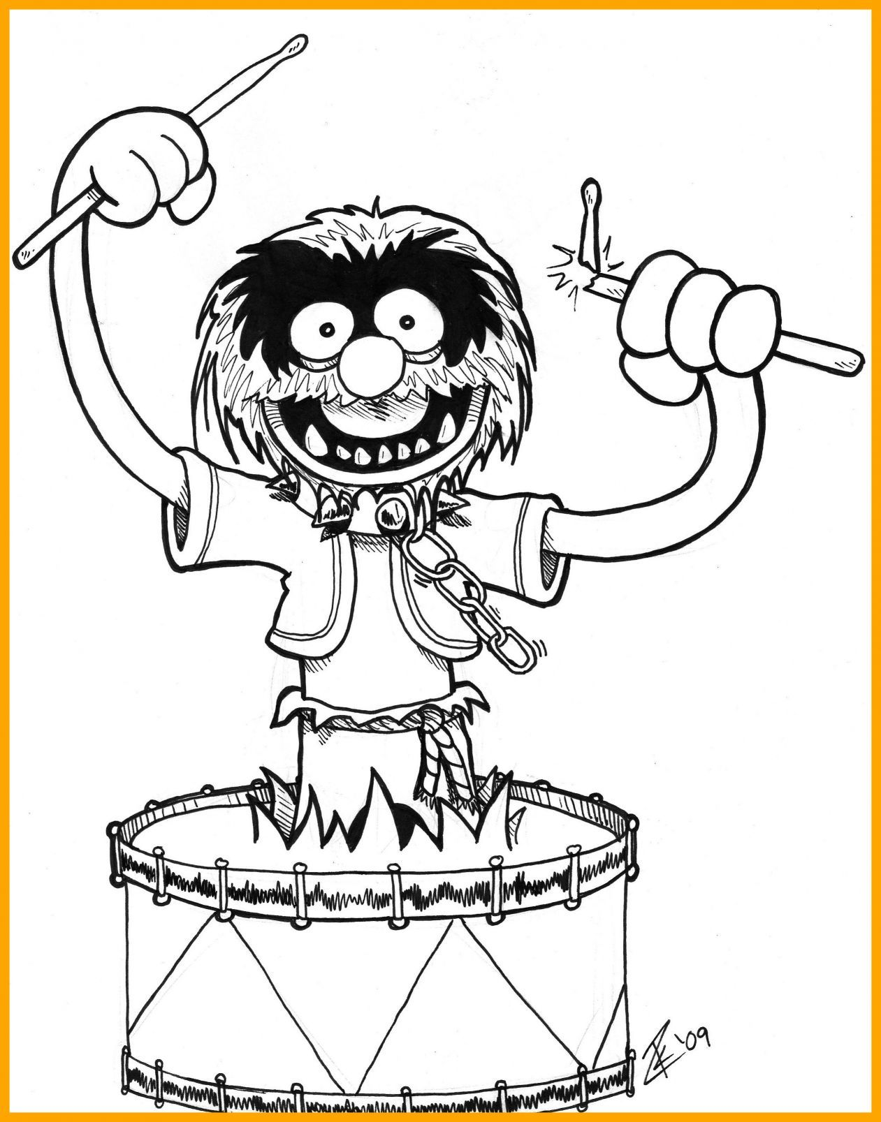1261x1607 Incredible Muppet Show Drumming Coloring Pages Pict For Kermit