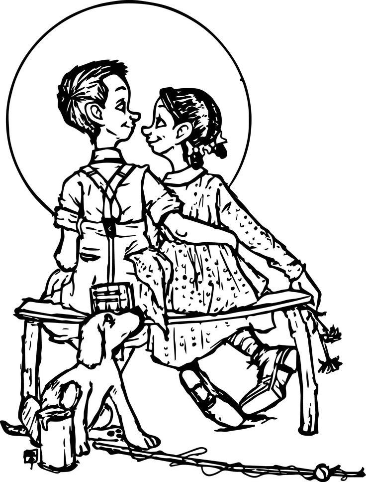 736x967 Norman Rockwell Coloring Pages