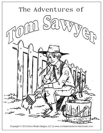 343x441 The Adventures Of Tom Sawyer Unit Study Homeschooling Reading