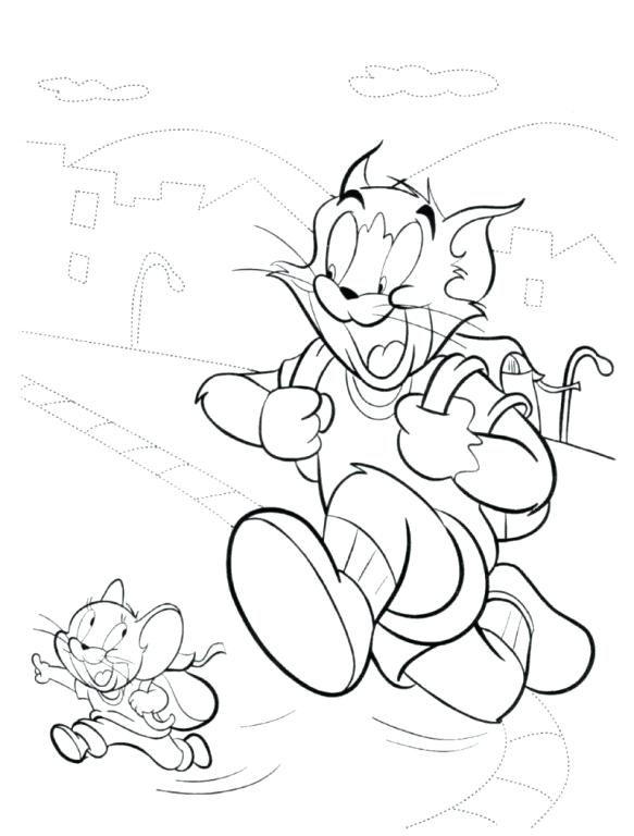 583x768 Tom Coloring Pages Tom And Going To School Coloring Pages Tom