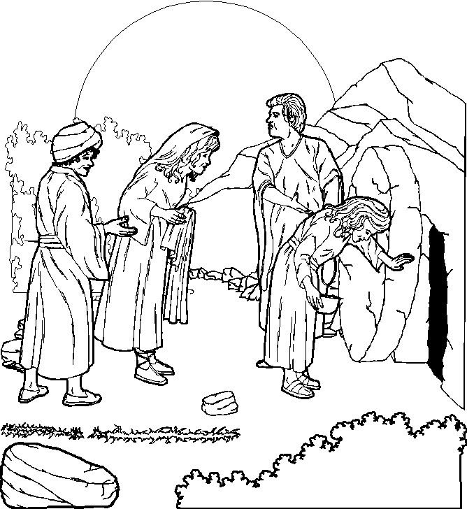 Tomb Coloring Page