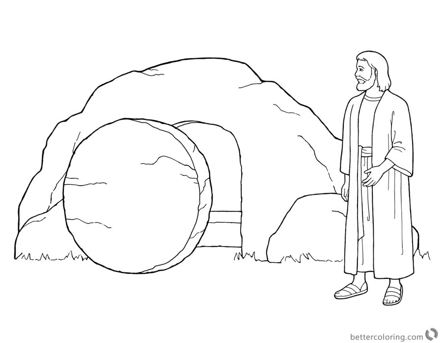 900x700 Empty Tomb Cloring Pages Easter Coloring Pages He Is Risen