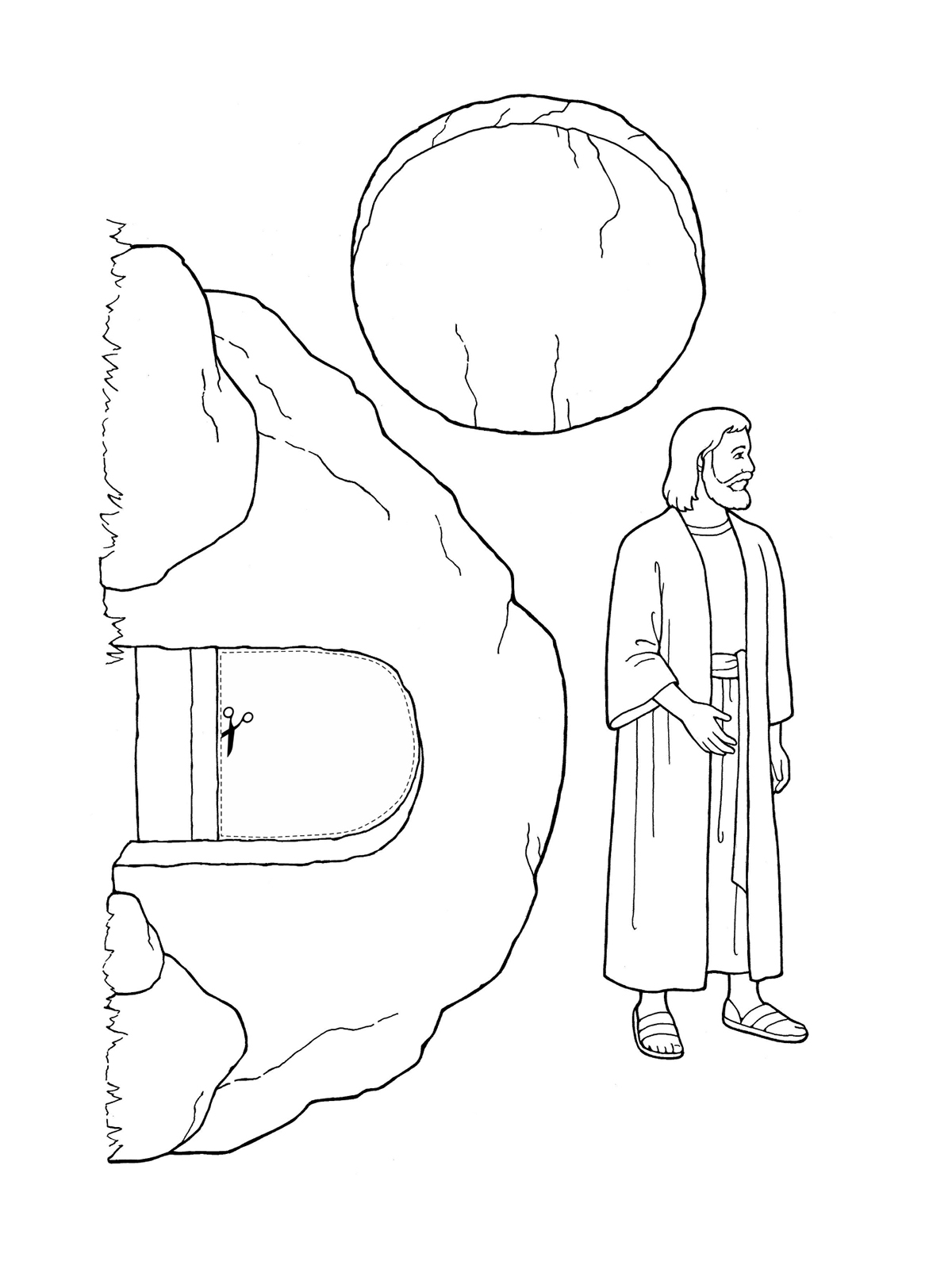 1200x1600 New Jesus Empty Tomb Coloring Pages
