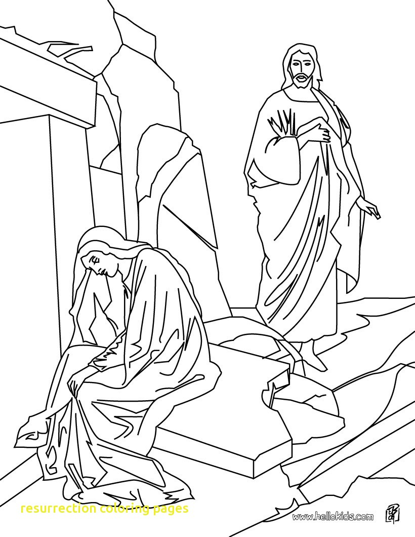 820x1060 Resurrection Coloring Pages With Resurrection Of Jesus Christ
