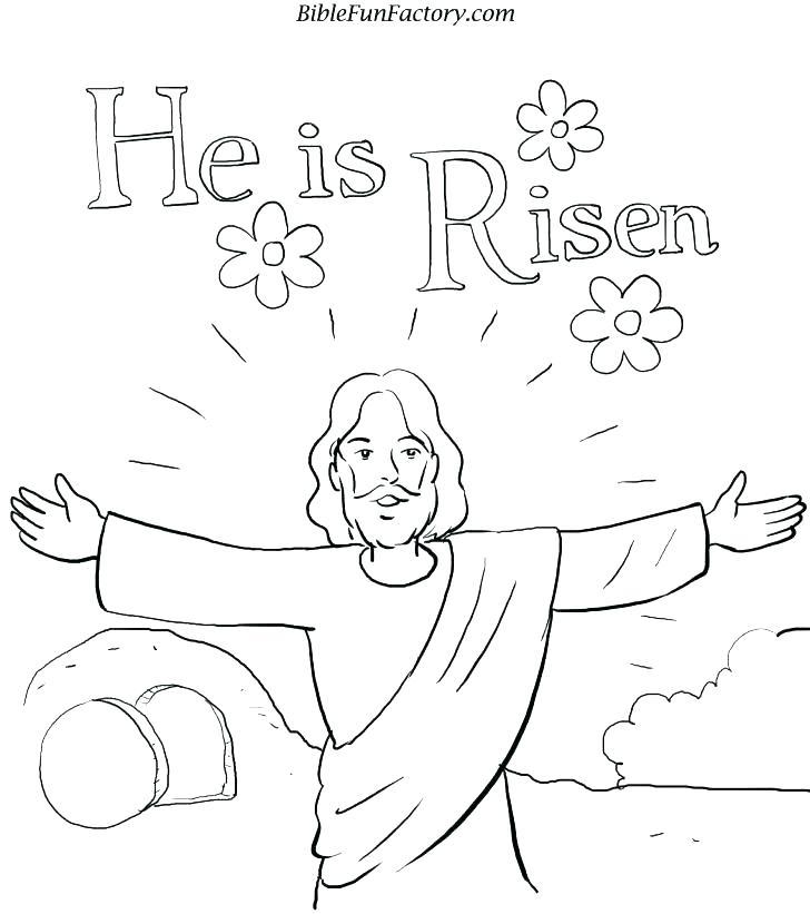 728x821 Jesus Resurrection Coloring Pages