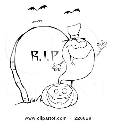 450x470 Tombstone Coloring Page