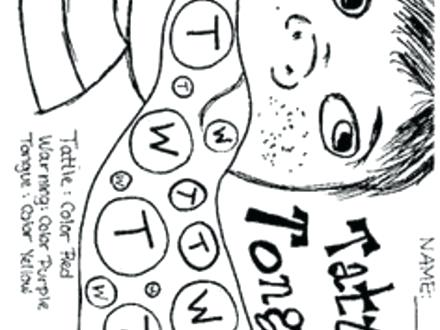 440x330 Tattle Tongue Coloring Page