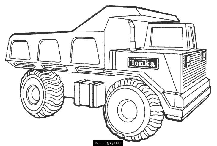 730x490 Dump Truck Coloring Pages